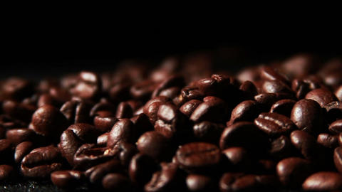 1572 Coffee Beans in Slow Motion Footage