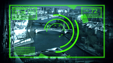 Tracking System Surveillance in Paris France,4K Stock Video Footage