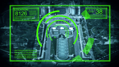 Tracking System Surveillance in Paris France,4K Footage