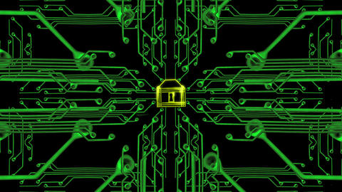 1655 Cyber Security Locked, 4K Stock Video Footage