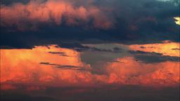 4K Cloudy sky on sunset Footage