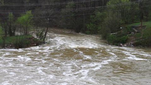 1480 Old Bridge Destroyed Flood Stage White Water Footage