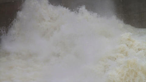 1486 Flood Stage White Water Rapids, Slow Motion Footage