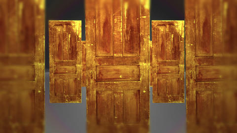 Many Doors Which One Will You Choose, 4K Footage