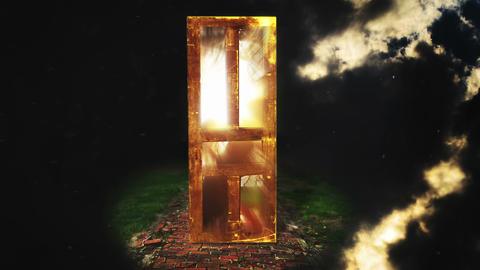 Door of Light to Heaven, 4K Stock Video Footage