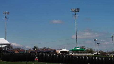 1354 Baseball Stadium with Blue Skys Footage