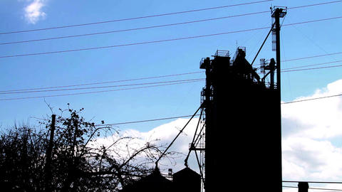 Factory with Blue Skys Stock Video Footage
