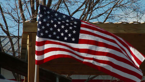American Flag, Slow Motion Footage