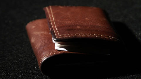 1375 Leather Wallet Being Picked Stock Video Footage