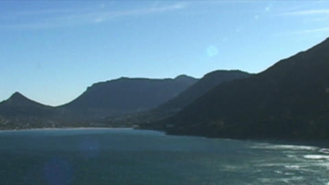 1398 Mountians by Ocean at the Tip of Africa Footage