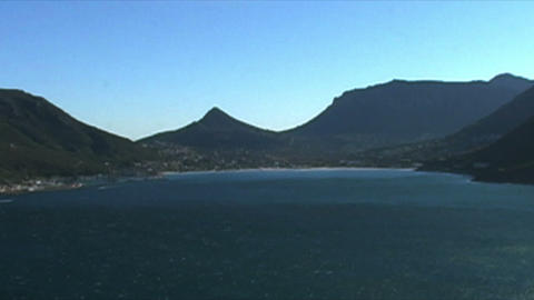 1401 Mountians by Ocean at the Tip of Africa Footage