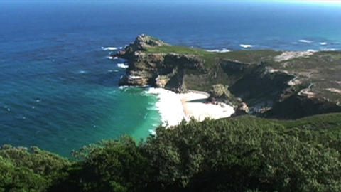 1407 Cliff Cove at the Tip of Africa with the Indi Stock Video Footage