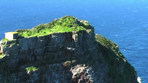 1413 Mountains Cliffs at the Tip of Africa with th Footage