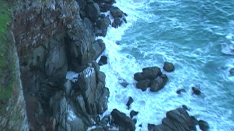 1415 Mountains Cliffs at the Tip of Africa with th Stock Video Footage