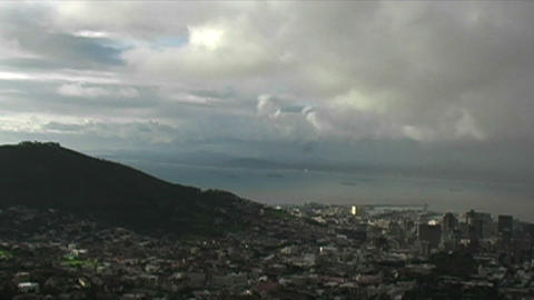 1419 View on Top of Table Mountain in Cape Town So Stock Video Footage
