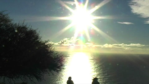 1421 Mountain and Sunset in Cape Town South Africa Stock Video Footage