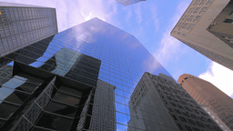 Corporate buildings in downtown Manhattan Footage