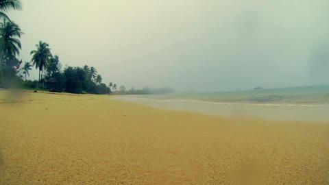 Rain On The Beach stock footage