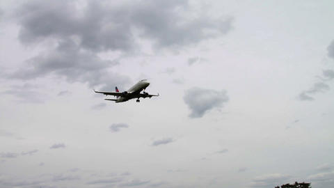 1265 Jet Airplane Landing At Airport stock footage