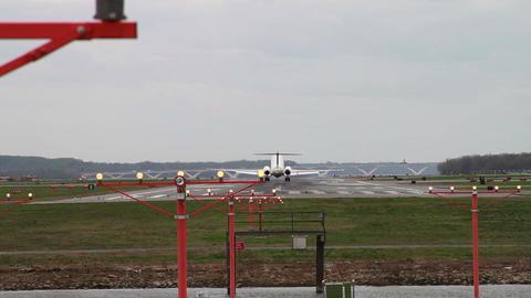 1277 Jet Airplane Landing at Airport Footage