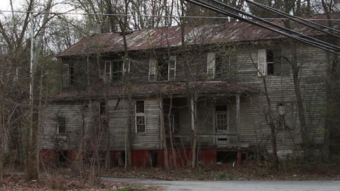 1287 Old Abandoned Spooky Houses Footage