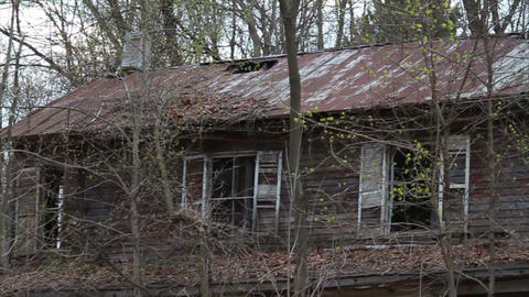 1289 Old Abandoned Spooky Houses Stock Video Footage