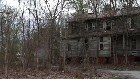 1291 Old Abandoned Spooky Houses Footage