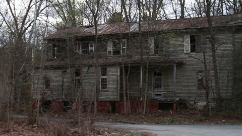1291 Old Abandoned Spooky Houses Stock Video Footage