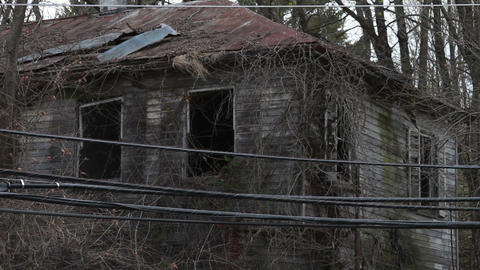 1293 Old Abandoned Spooky Houses Footage