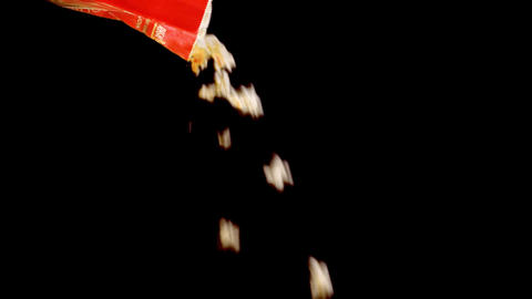 1019 Popcorn Falling With Alpha Channel stock footage