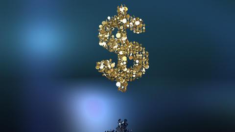 Slow falling dollar symbol + Alpha Animation
