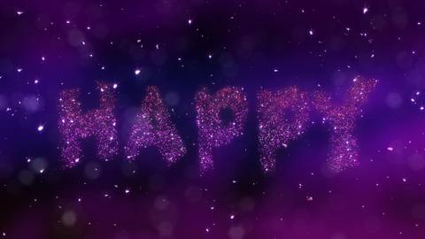 Happy Birthday Loop Video, Stock Animation