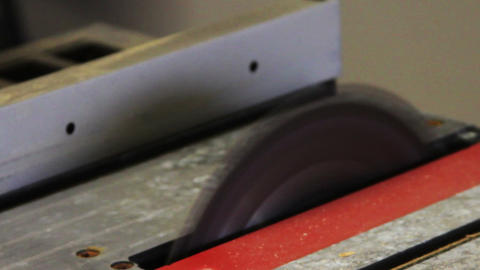 1159 Table Saw, Sawing Hardwood Board Stock Video Footage