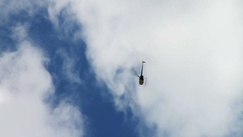1189 Helicopter Flying from on High Stock Video Footage