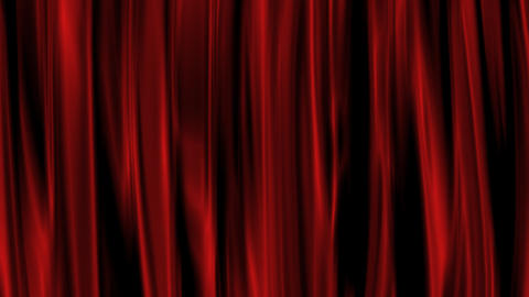 Red Curtain with Alpha Channel Stock Video Footage