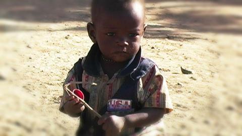 0844 African Childern stock footage