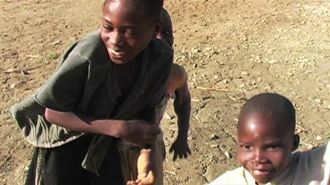 0848 Happy African Children Having Fun Footage