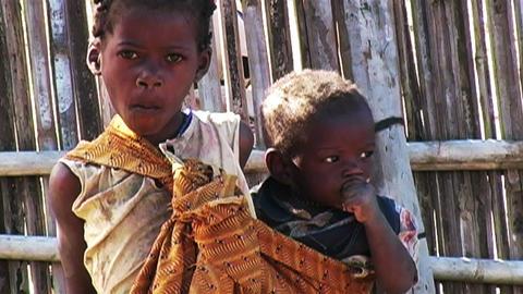 0850 African Childern Footage
