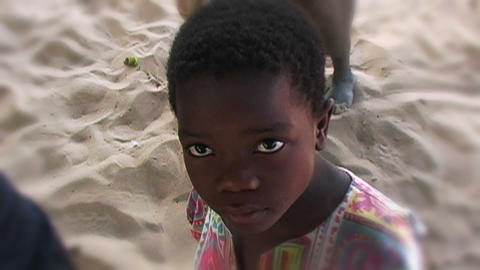 0852 Into an African Child Eyes Stock Video Footage