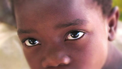 0852 Into an African Child Eyes Footage