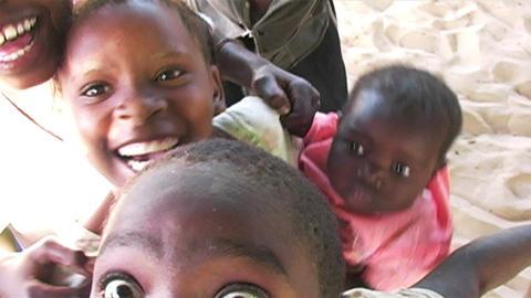 0854 Happy African Children Having Fun Stock Video Footage