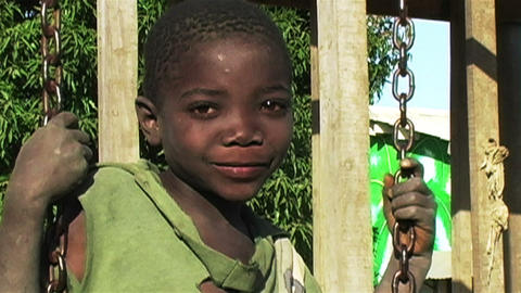 0856 Into an African Children Eyes Footage