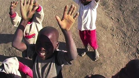 0860 Happy African Children Having Fun Footage