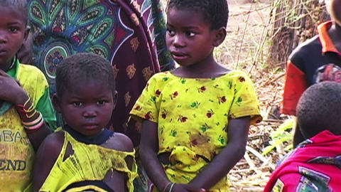 0867 African Children Footage
