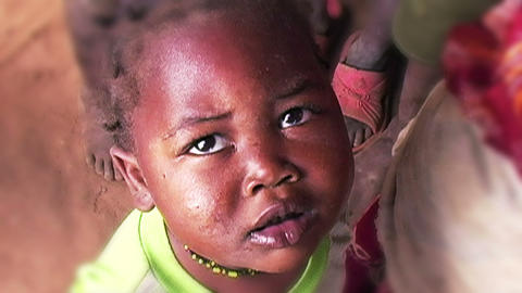 0870 African Children Stock Video Footage