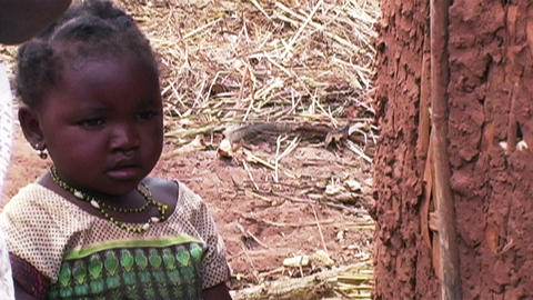 0874 African Children Footage