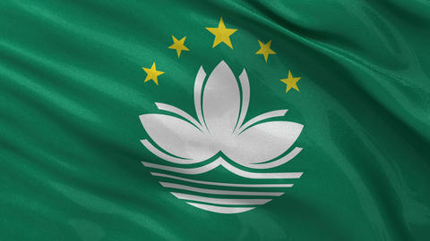 Flag of Macau seamless loop Stock Video Footage