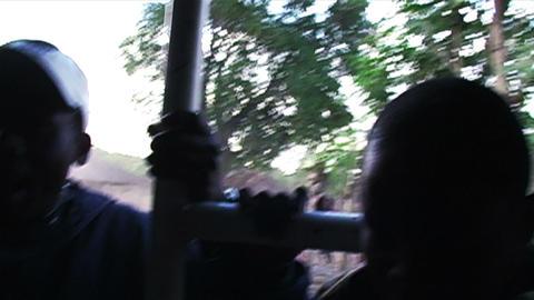0876 African Childern Running at Truck Footage