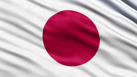 4K Flag of Japan seamless loop Ultra-HD Animation
