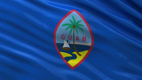 Flag of Guam seamless loop Animation